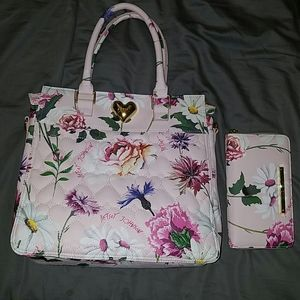 Betsey Johnson floral print tote